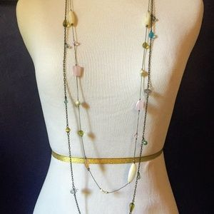 Set of 2 Long Layering Necklaces